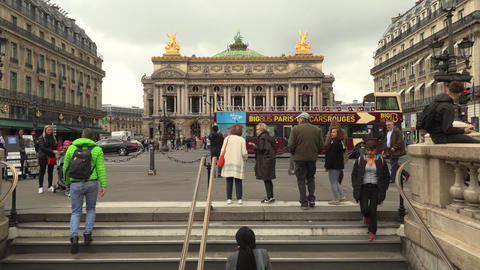 Paris, France, 20 May 2019 - Palais or Opera Garnier and The National Academy of Footage