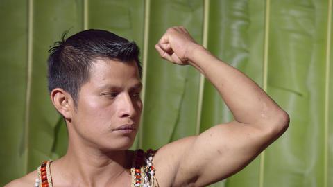Muscular Adult Man In Ecuador Live Action