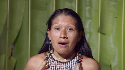 Woman Saying Wow At The Viewer In Ecuador Live Action