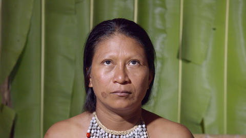 Up And Down Eyes Movement Of A Woman In Ecuador Footage
