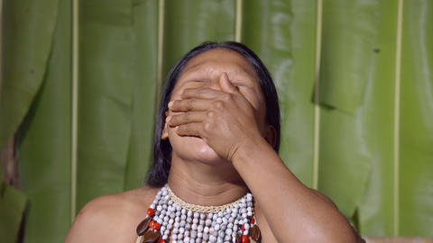 Woman Yawning Deeply In Ecuador Live Action