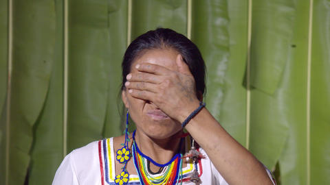 Frustration Gesture Demonstrated By A Woman In Ecuador Live Action