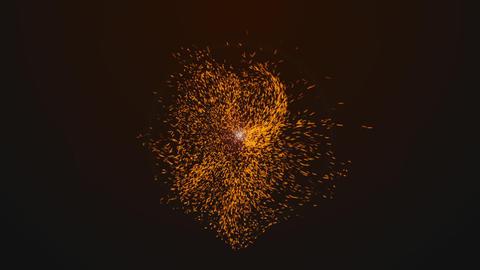 爆発で火の粉が舞うイメージ CG動画
