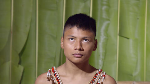 Up And Down Eyes Movement Of A Young Boy In Ecuador Footage