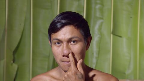Adult Man Nose Rubbing In Ecuador Live Action