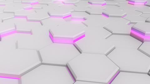 3D-HEX (gray, pink). HD, seamless loop CG動画