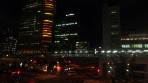 Japan city scenery. View of Akihabara Station Home Live Action