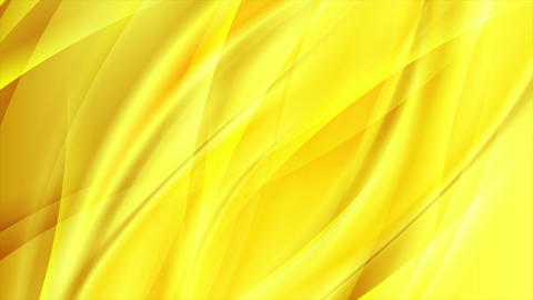 Abstract bright flowing yellow waves video animation Animation