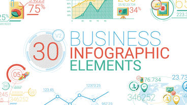 Business Infographic Elements After Effects Template