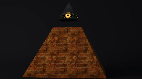 4K All Seeing Eye of God Pyramid Illuminati Symbol 2 Animación
