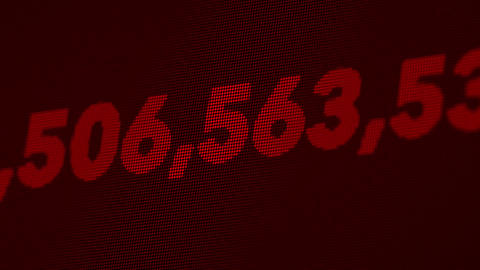 4K National GDP or Debt Counter in USD 3 Animation