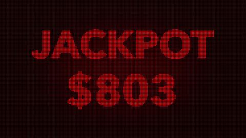 4K Reaching 1000 USD Jackpot Retro Gambling Machine... Stock Video Footage