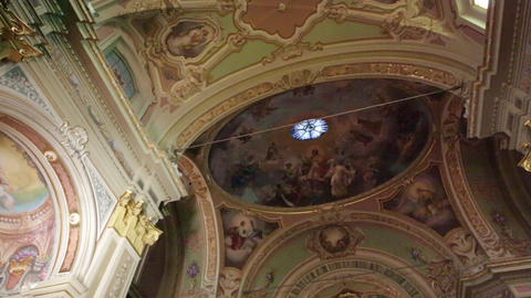 In italy the old inside church altar 19 Footage