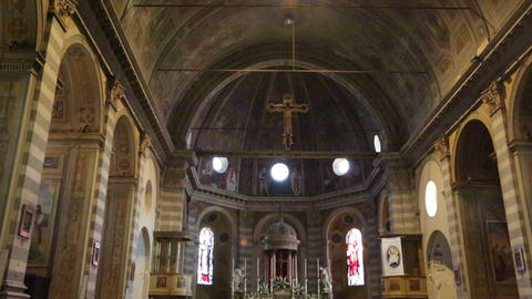 In italy the old inside church altar 07 Footage