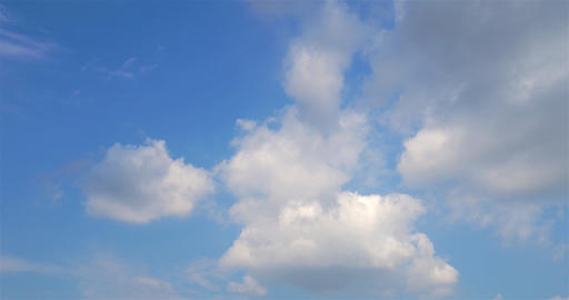 Timelapse Of White Clouds On Blue Sky Footage
