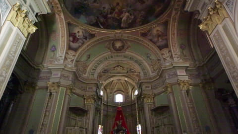 In italy the old inside church altar 18 Footage