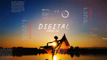 Digital Parallax Slideshow After Effects Template