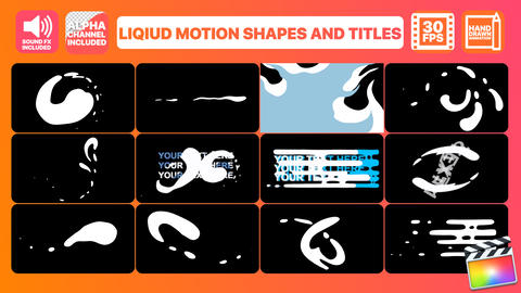 Liquid Motion Shapes And Titles Apple Motion Template