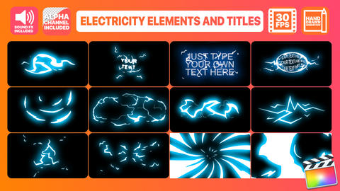 Electricity Elements And Titles Apple Motion Template