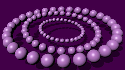 Trendy purple abstract movie with light purple pearls composed into circles Animation