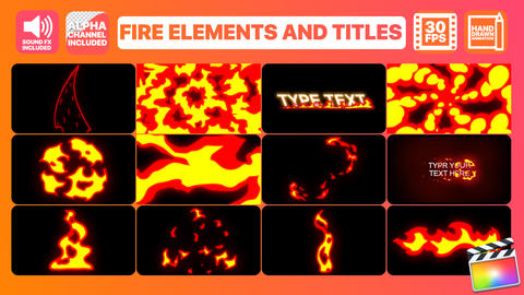 Fire Elements And Titles Apple Motion Template