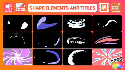 Shape Elements And Titles Apple Motion Template