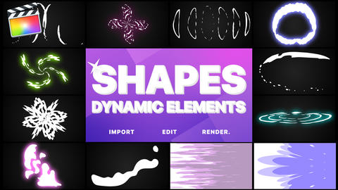 Dynamic Shapes Pack Apple Motion Template