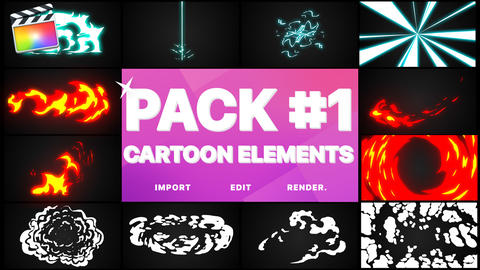 Elements Pack 01 Apple Motion Template
