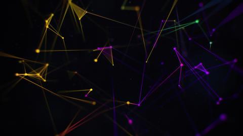 Colorful VJ Neon Plexus Lines and Circles Animation