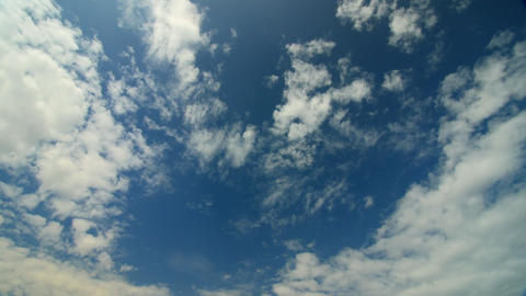 Sunny blue sky, nature white clouds. Beautiful cloud flying in blue sky Live Action