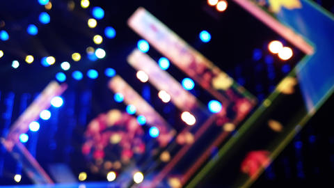 Defocus entertainment concert lighting on stage, bokeh Live Action