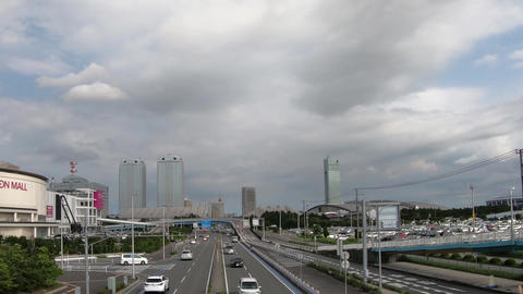 Japan city scenery. Near Chiba, Makuhari. Time-lapse shooting Live Action