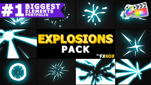 Explosion Elements Pack Apple Motion Template