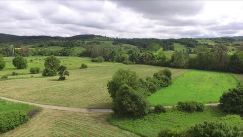 Beautiful summer landscapes from the height slow descent Live Action