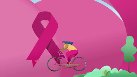 Women Fight Against Breast Cancer Animation