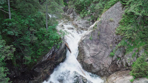 Movement of water in a mountain river Footage
