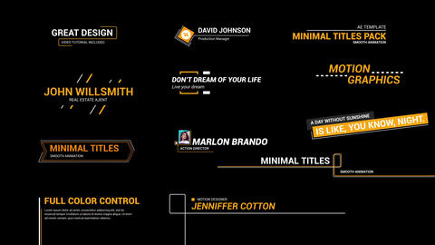Line Titles After Effects Templates
