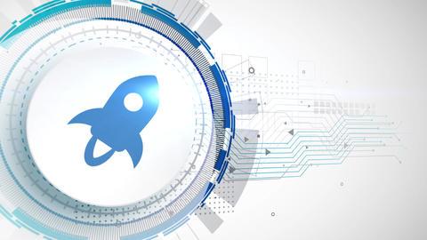 stellar lumens cryptocurrency icon animation white digital elements technology background Animation
