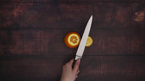 Cutting orange - Stop Motion Animation