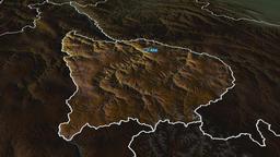 Apurimac - region of Peru. Physical Animation