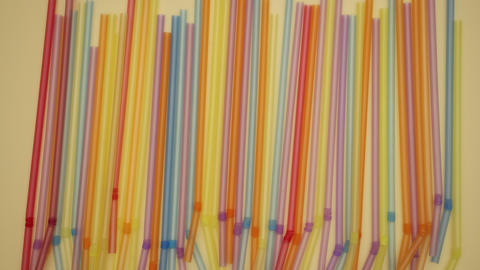 Tubes on yellow background - Stop motion Animation