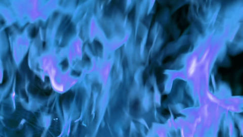 Blue flame abstract background, slow motion, abstract blue fire Footage