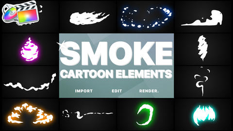 Flash FX Cartoon Smoke Apple Motion Template