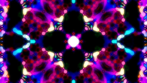 Mesmer Kaleidoscope Floral Shine Loop Abstract Background Animation