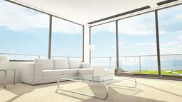 Contemporary Living Room / Hotel Room Interior Footage