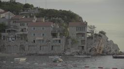 Resort town on the coast. Milocer. Montenegro Footage