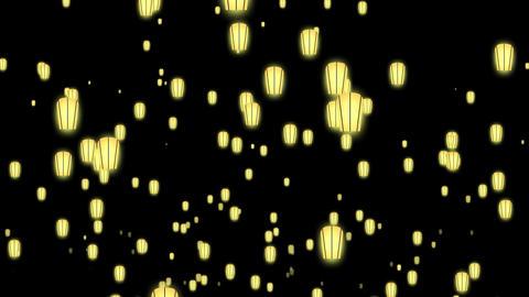 sky lanterns Animation