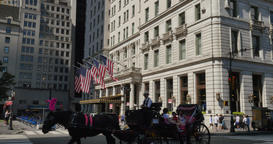 Day Establishing Shot Plaza Hotel in Manhattan Footage