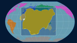 Nigeria - 3D tube zoom (Kavrayskiy VII projection). Continents Animation