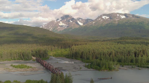 Alaska railroad bridges in the wilderness Live Action